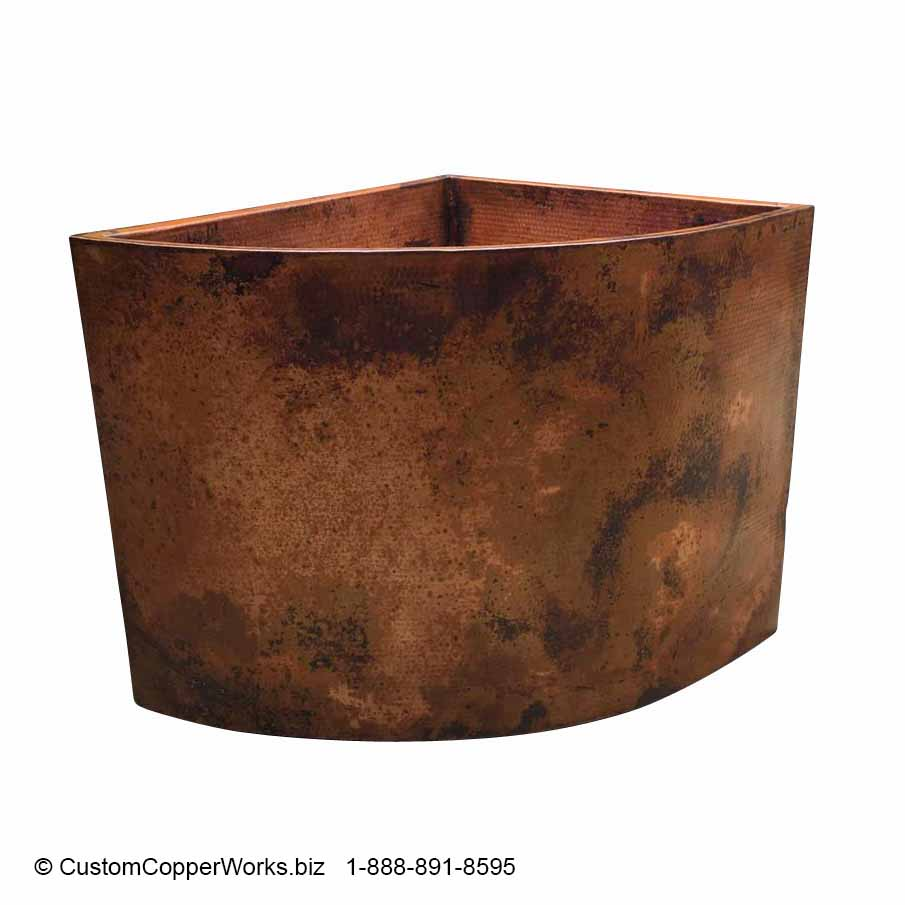 Hand-hammered Copper Japanese Soaking Tub / SKU#26 — Custom Hammered ...
