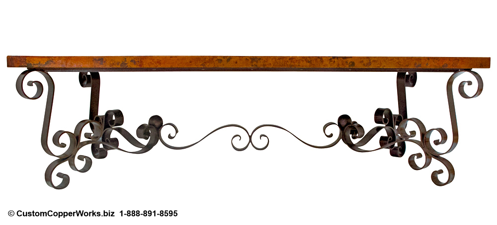 Copper Top Tables | Forged-iron Table Bases -  CCW DESIGN 112