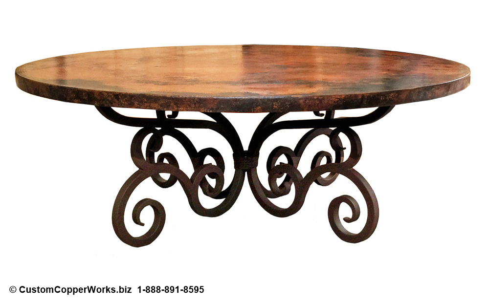 Copper Top Tables | Forged-iron Table Bases -  CCW DESIGN 48
