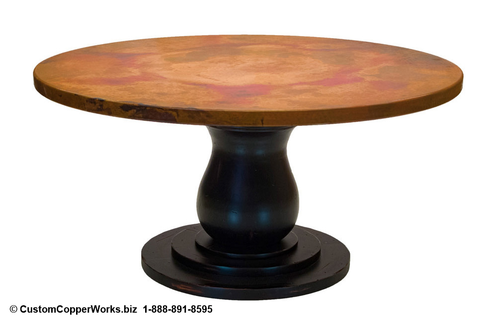 Copper Top Tables | Wood Table Base -  CCW DESIGN 12