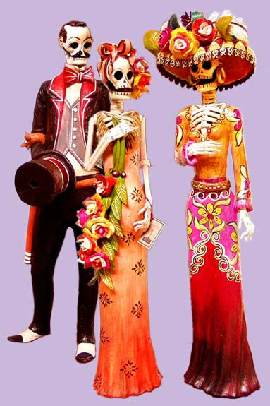 """Juan Torres Mexican Day of the Dead art -- """"LA CATRINA"""". Sr. Torres, located in Capula, Michoacan, was the first artist to make clay catrinas in the 80s. His work is world-celebrated."""