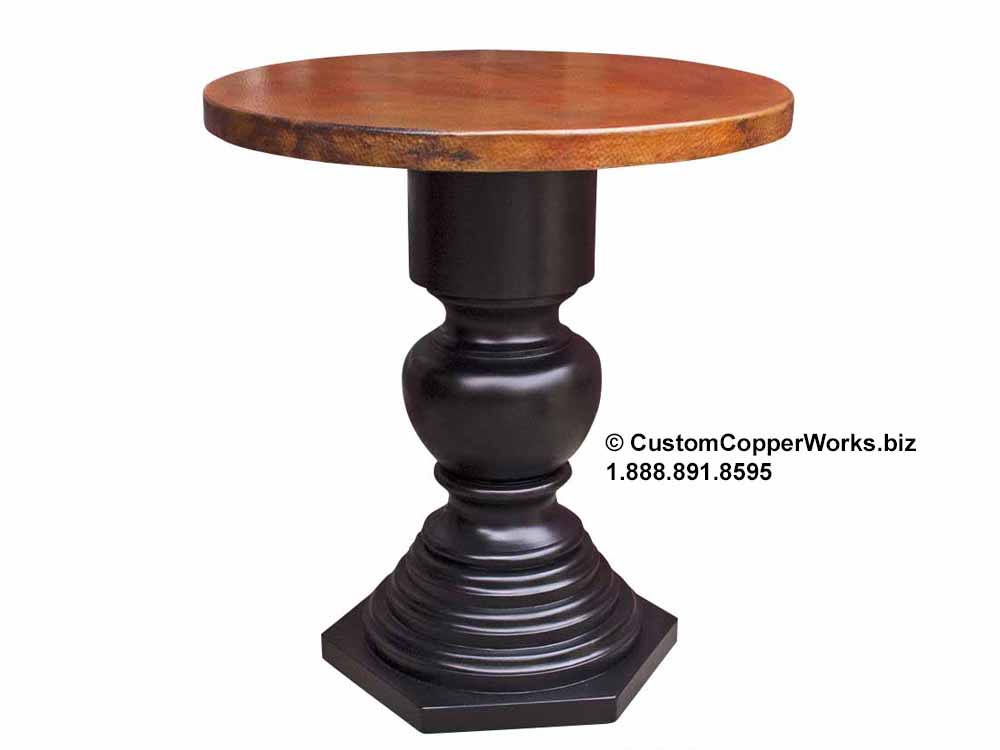 hand-hammered, round-copper-entryway-table-corina-wood-pedestal-table-base-120-1a.jpg