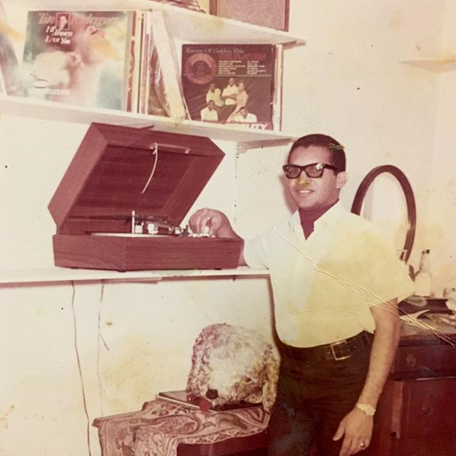 Jose in the apartment, in 1962.