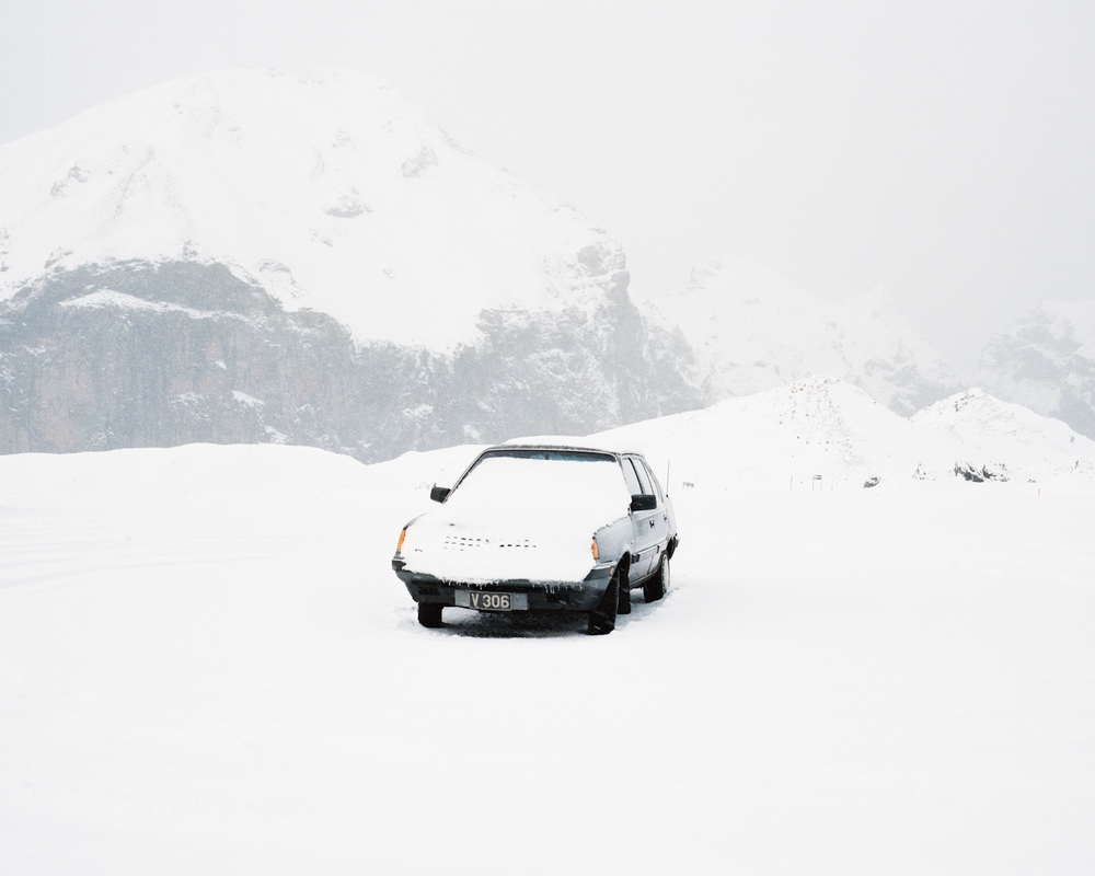Car in Snow, Vestmannaeyjar, 2015.  Project Statement