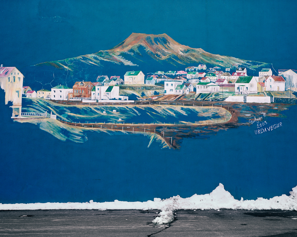 Harbour Mural #1, Vestmannaeyjar, 2015.  Project Statement