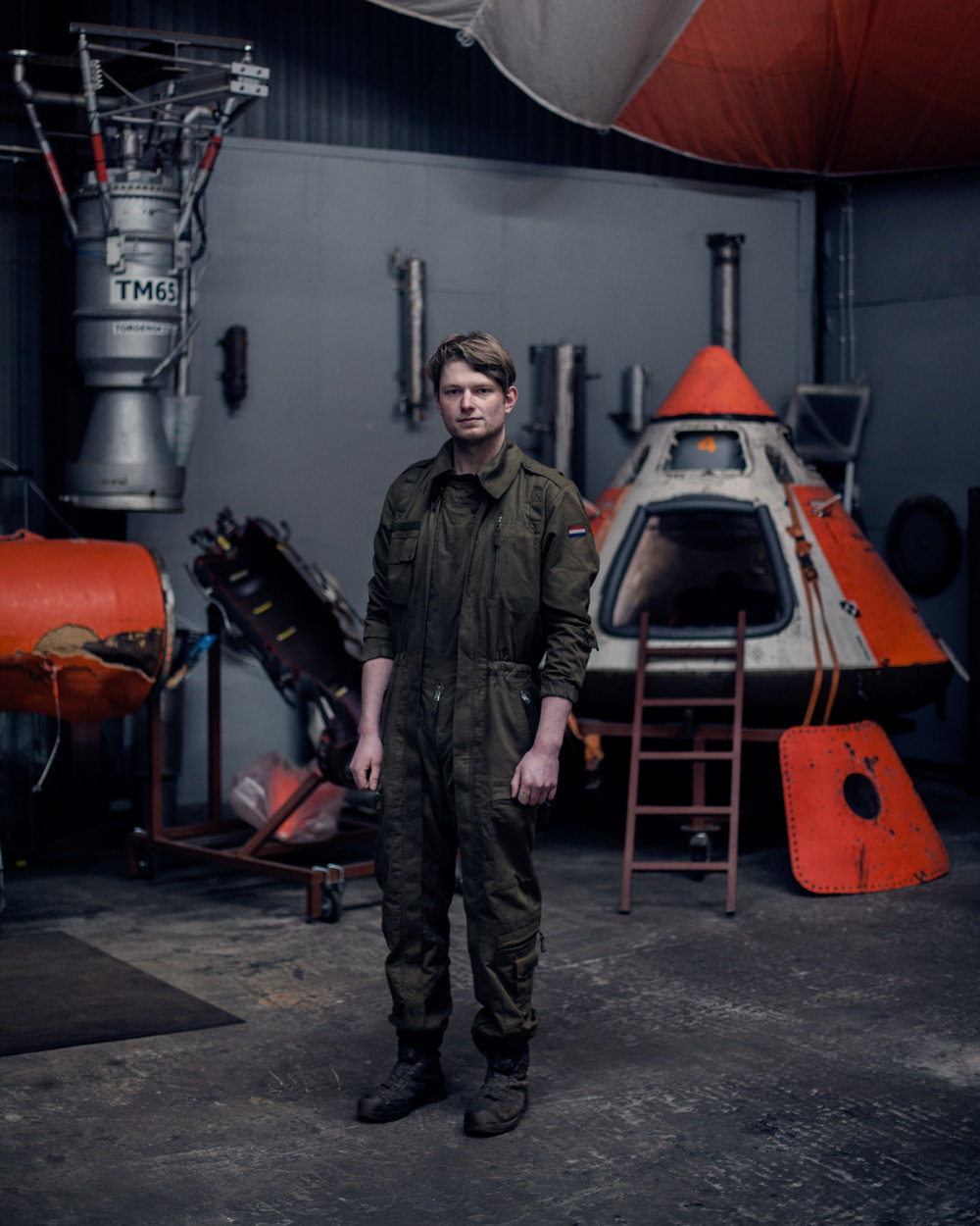 Jop Nijenhuis, rocket engineer at Copenhagen Suborbitals. Refshaleøen, Copenhagen, 2018.  Project Statement