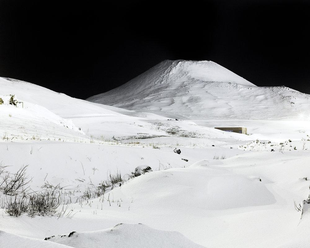 Helgafell at night, Vestmannaeyjar, 2015.  Project Statement