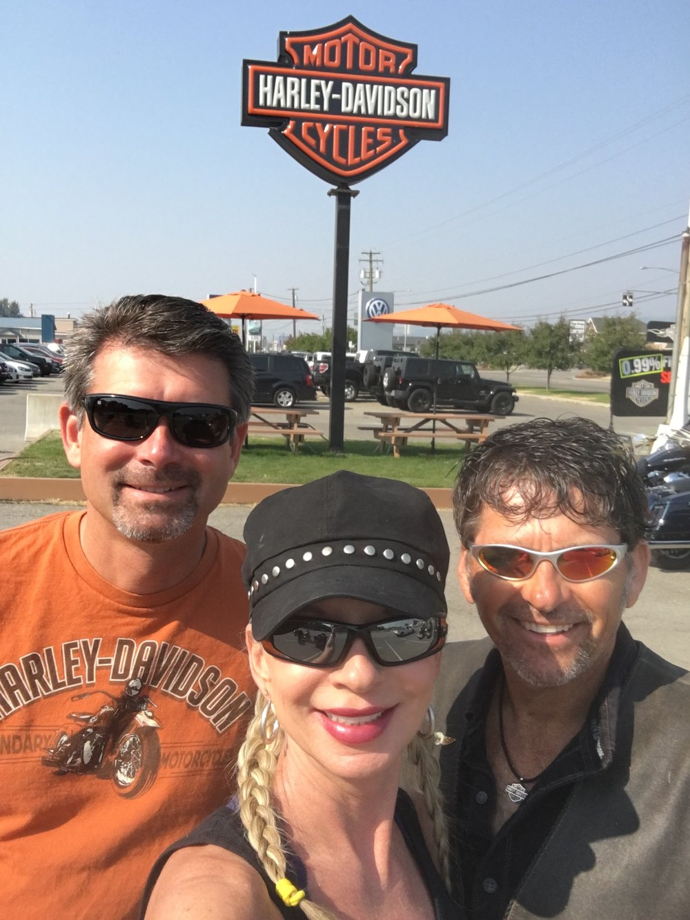 All trips include going to every Harley store available.