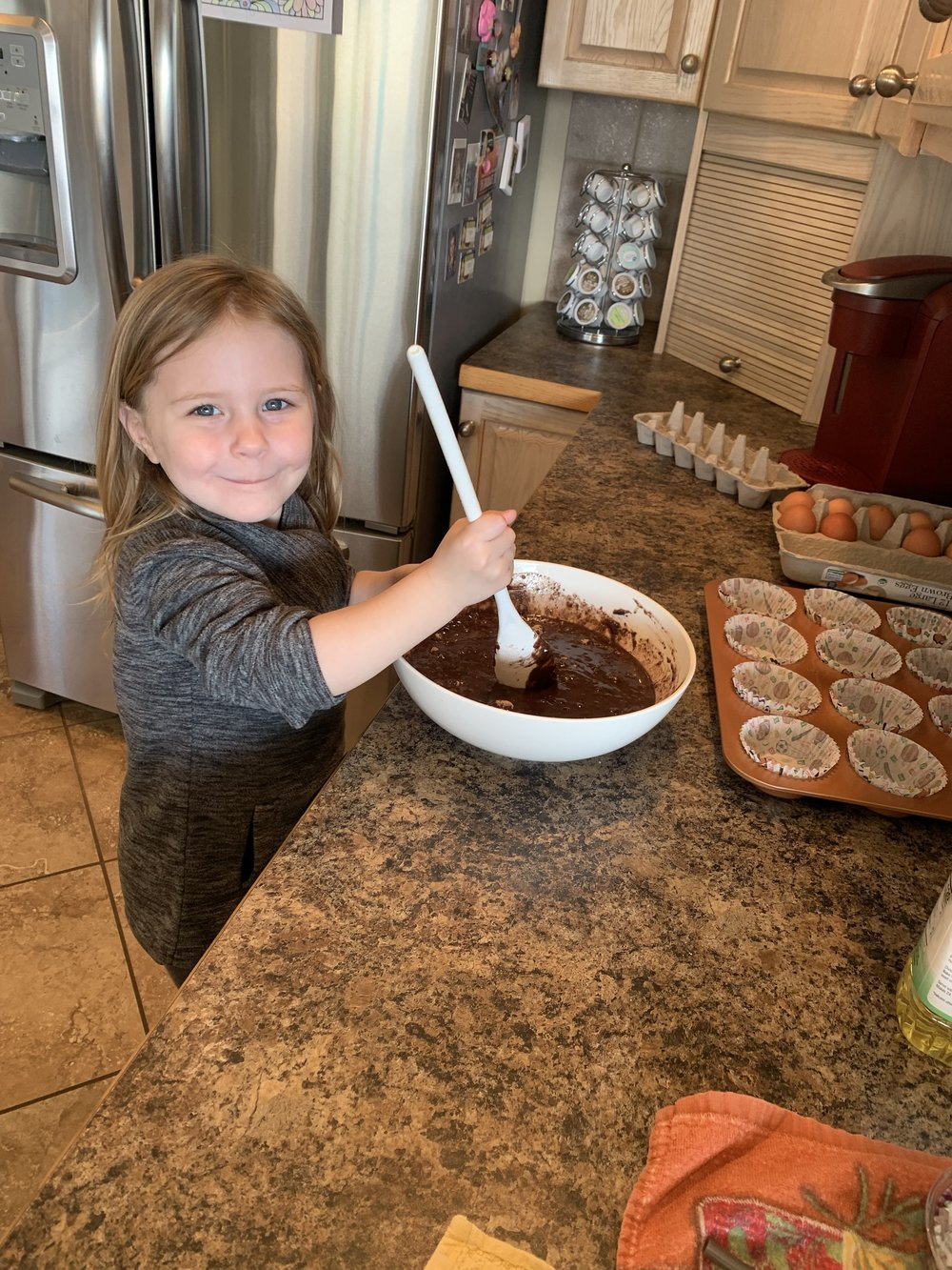 Mmmm she made the best brownie cupcakes. Only problem with this is grandma had 12 in one day. Yikes! Sugar coma.