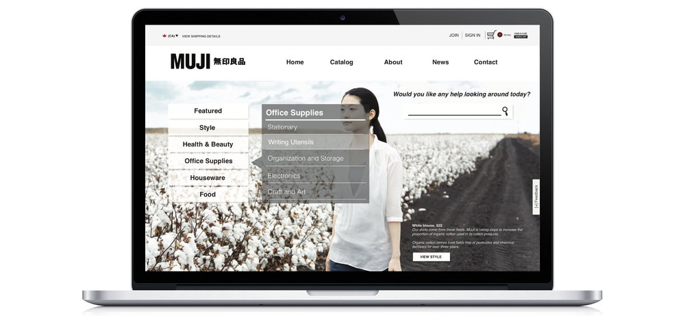 Homepage solving for flexibility and efficiency of use ― IA and navigation broken down into organized categories, search interface brought up front and more visibility to the option of direct search
