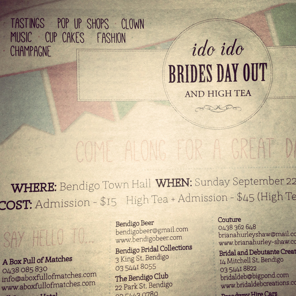 Brides Day Out Bendigo