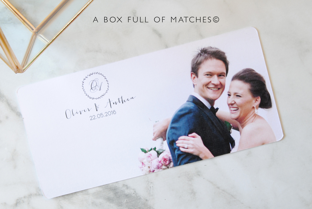 Wedding Thank You Cards DL