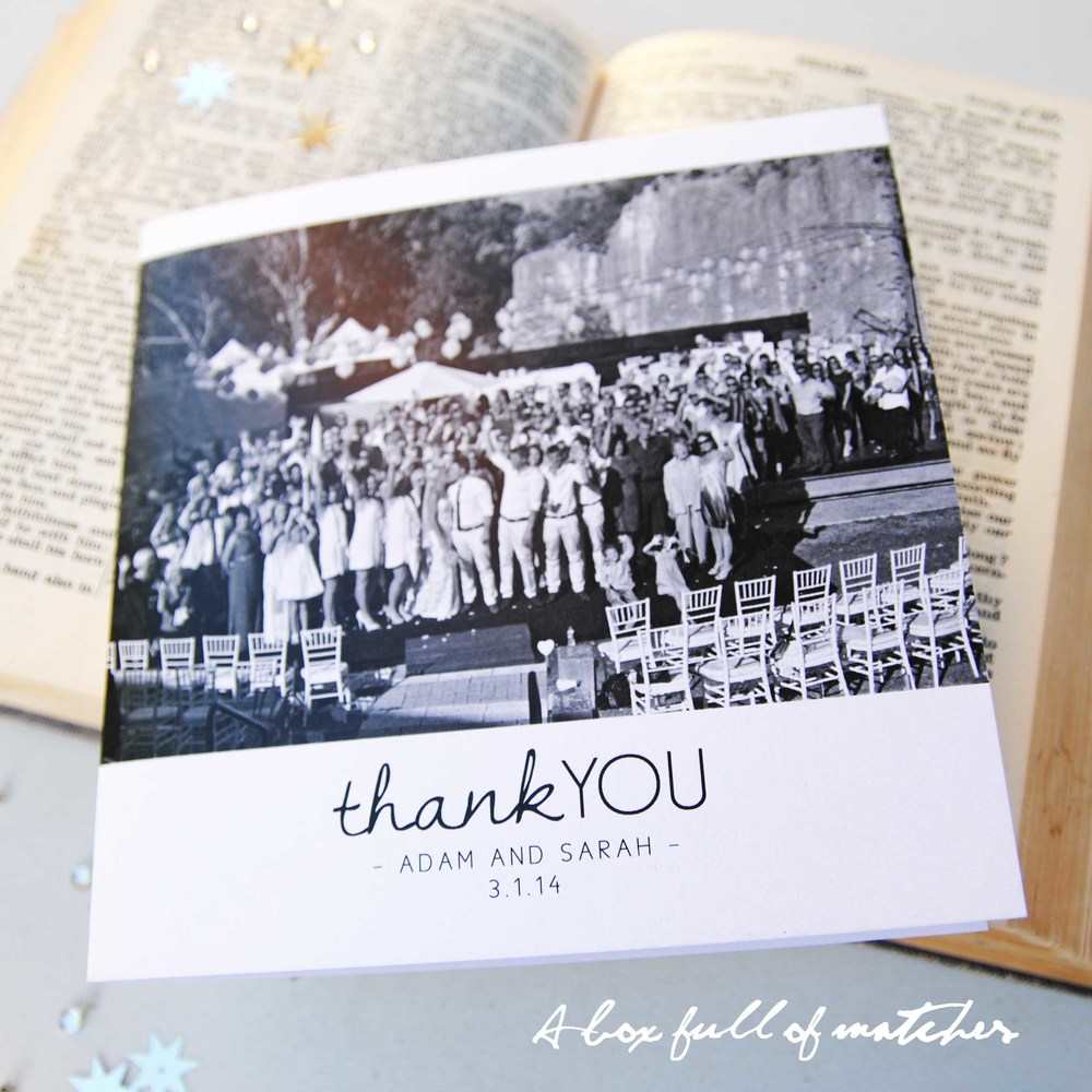 Thank you cards square shape