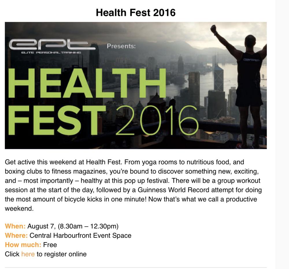 Localiiz Clipping on EPT Health Fest