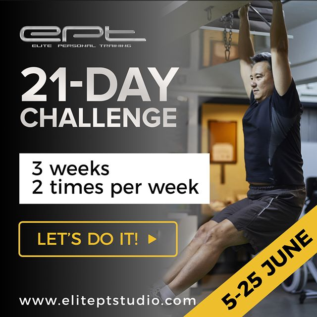 Make the first step to healthier you.  3 weeks, training 2 times a week, 2 x 1hr nutrition session – let's do it! We start on JUNE 5!  Sign up: https://goo.gl/eZKKvU  #21-daychallenge