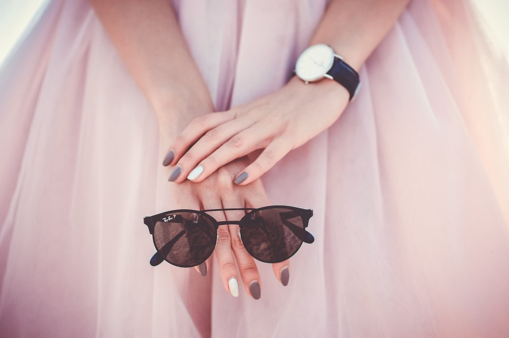 Pink dress white nails.jpg