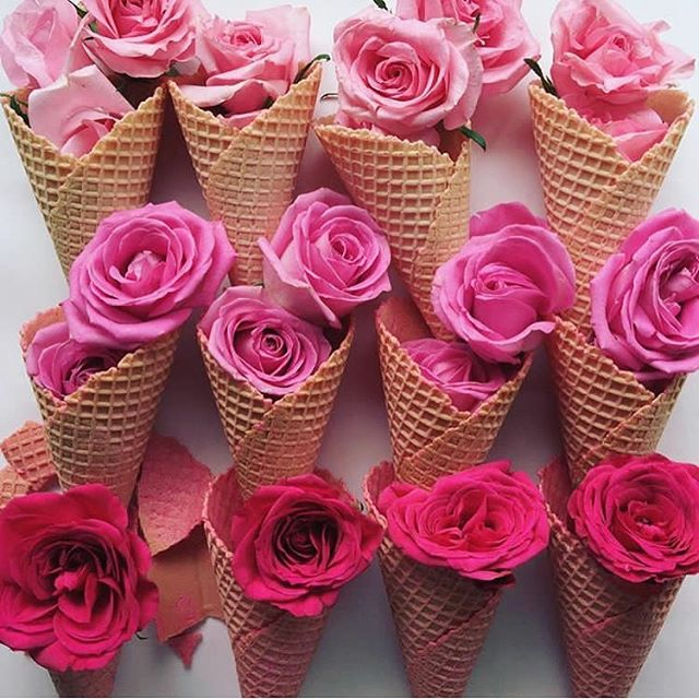 🌷 flavoured heaven. @nectarandstone you're amazing 💕. #roses #icecream #pinkaesthetic #interiordesign #events #fashion #style #pink #rose #flowers #florals #food #instafood #meals