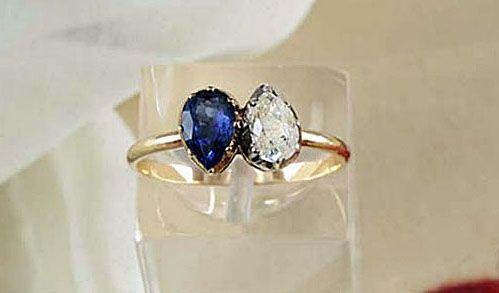 jewelry sapphire item star ring one carat stm gold in