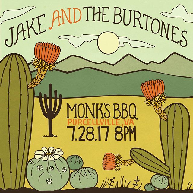 Tonight! Tonight! Tonight! Come on out to our favorite spot @monksbbq  for some old time tunes and smoked meats! Thanks @brainflowerdesigns for the sweet poster. #jakeandtheburtones #burtones #oldtime #oldtimemusic #freetay #freetayk #martinguitar #smokedmeat #bbq #glockteam #oprahswookclub #oprahsbookclub #fuck12 #fuckthatsdelicious #fuckdonaldtrump
