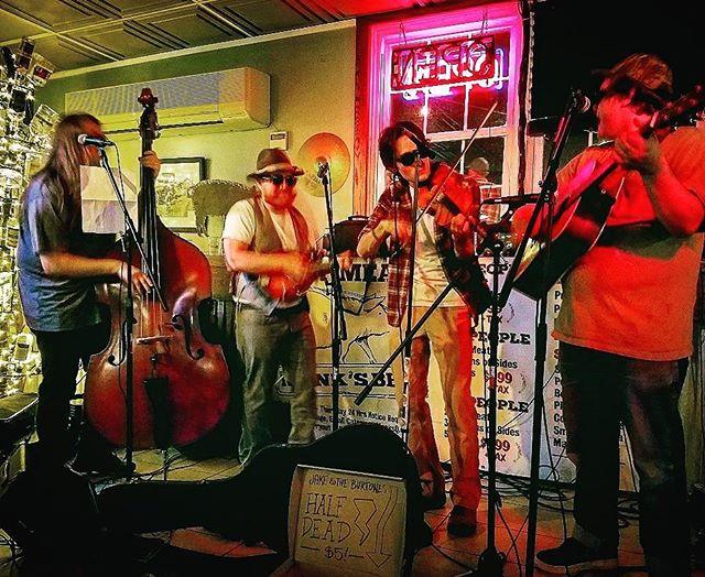 We're thankful for y'all.  #jakeandtheburtones #burtones #oldtime #oldtimemusic #bluegrass #martinguitar #appalachia #whiskey #bbq #glockteam #acab #actavis #smokemeateveryday #loggedin #oprahsbookclub #oprahswookclub #fuckthatsdelicious #fuck12 #fuckdonaldtrump