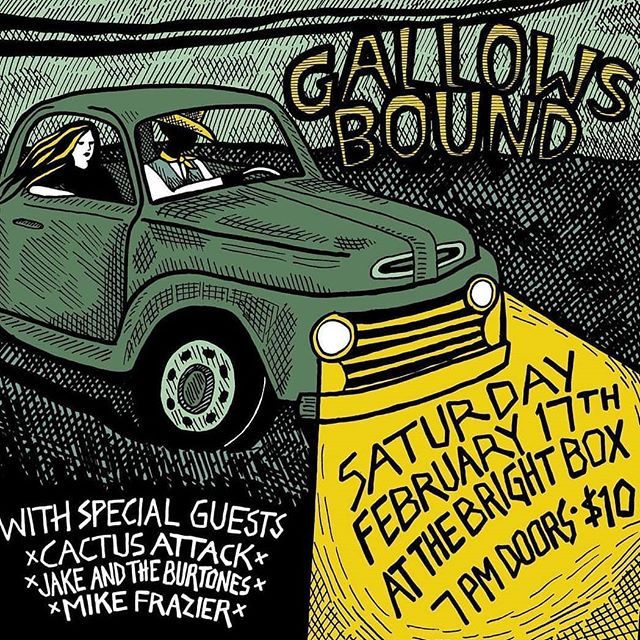 Thanks for coming out to @monksbbq  last night, y'all are the best! This coming weekend we'll be at the bright box in Winchester, VA with our good friends @gallowsbound. Get your tickets in advance, this show always sells out!