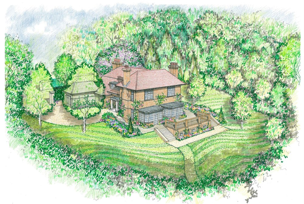 Four Winds - Our planning application for this house in Harrow for a private client was successful. We have now begun the working drawings for the major extension of this attractive 1906 Arts and Crafts House in Harrow on the Hill. The designs preserve and enhance the existing building while creating a large pool and leisure complex at basement level.