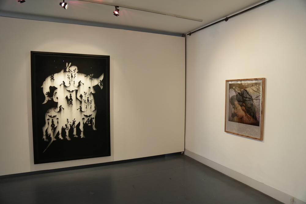 Left - Centaurius (big fish), Alice Maher, 2006; Right - Dreaming of..., 2009, Dragana Jurisic