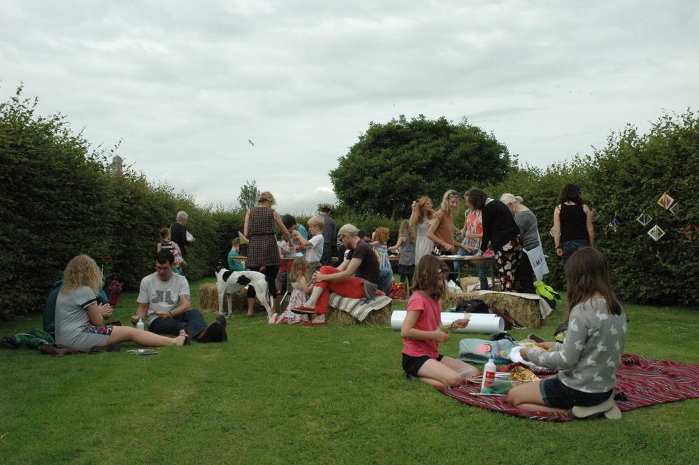Workshop with Ruth Lyons at Irish Museum of Modern Art's garden festival Summer Rising, 2014.