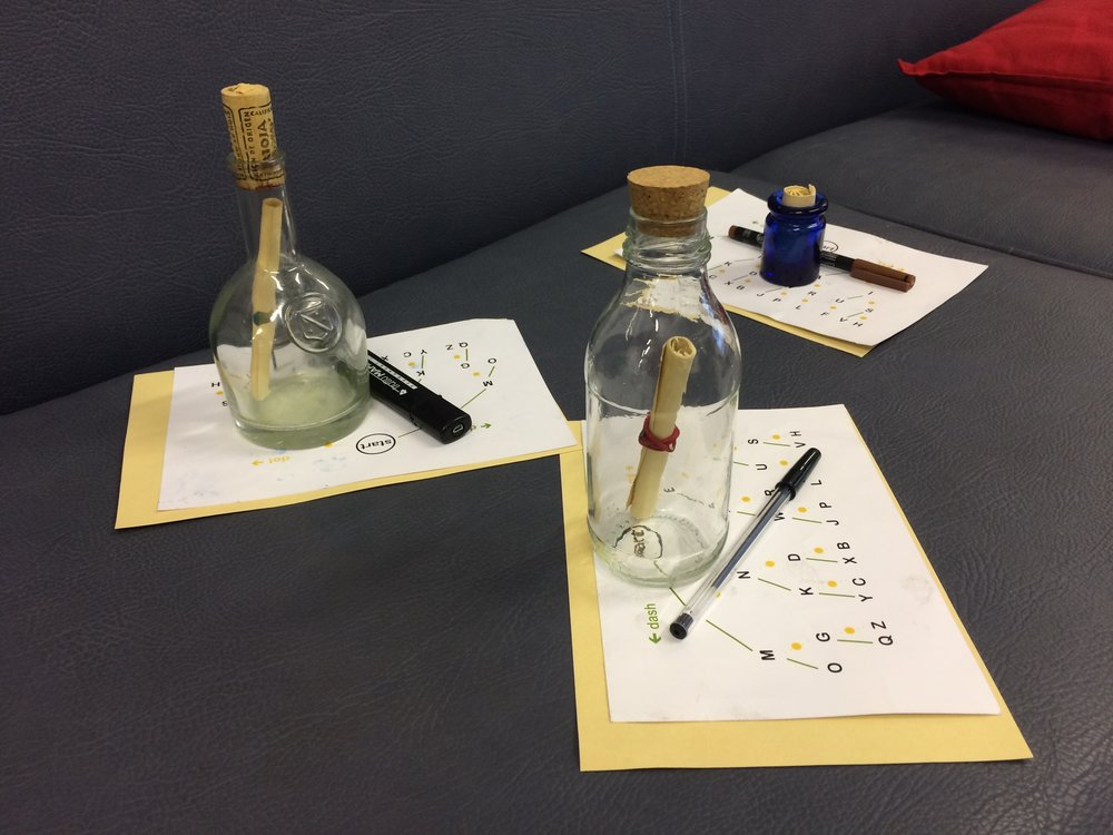 Week 3 Scouts messages in bottles from Sikh kids.jpg