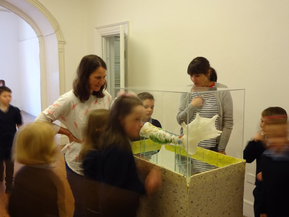 Teachers and students explored the gallery together