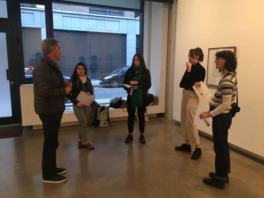 Artist Brian Fay gives a tour of his work at his solo exhibition at The Oonagh Young Gallery, field research day #4