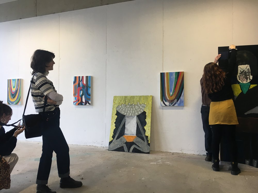 At the Green on Red Gallery the group also looked at work of artists Mark Joyce and Emma Roche; field research day #4 #paintinglight #thelifeofanartist #physicalityofpaint