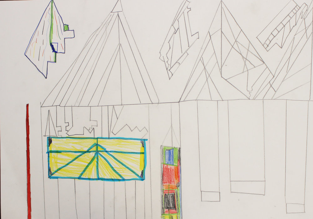 Inspired by Caoimhe's structures, the class decided they wanted to create their own fort, for their exhibition, and began the design process.