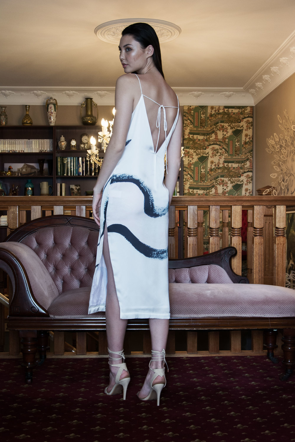 JENNI The Slip Dress, Inktrigue Print, Classics by Ashleigh Kwong