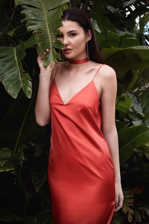 JENNI The Slip Dress, Rust Orange, Classics by Ashleigh Kwong