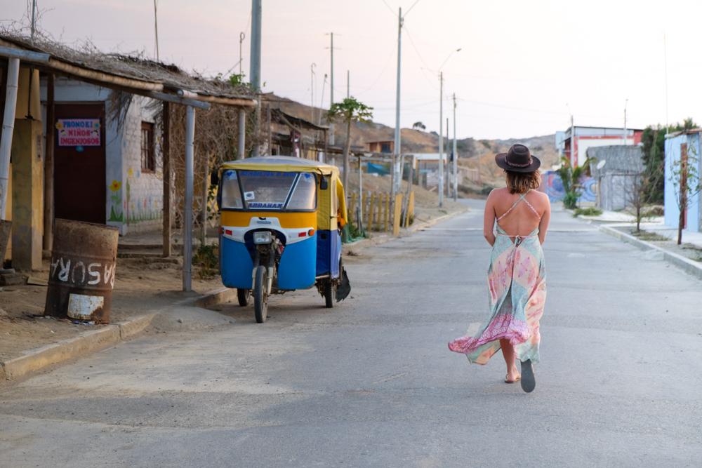Emily walking in Peru