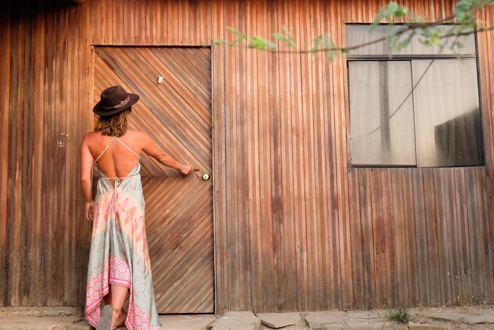 Wooden doorways in Peru