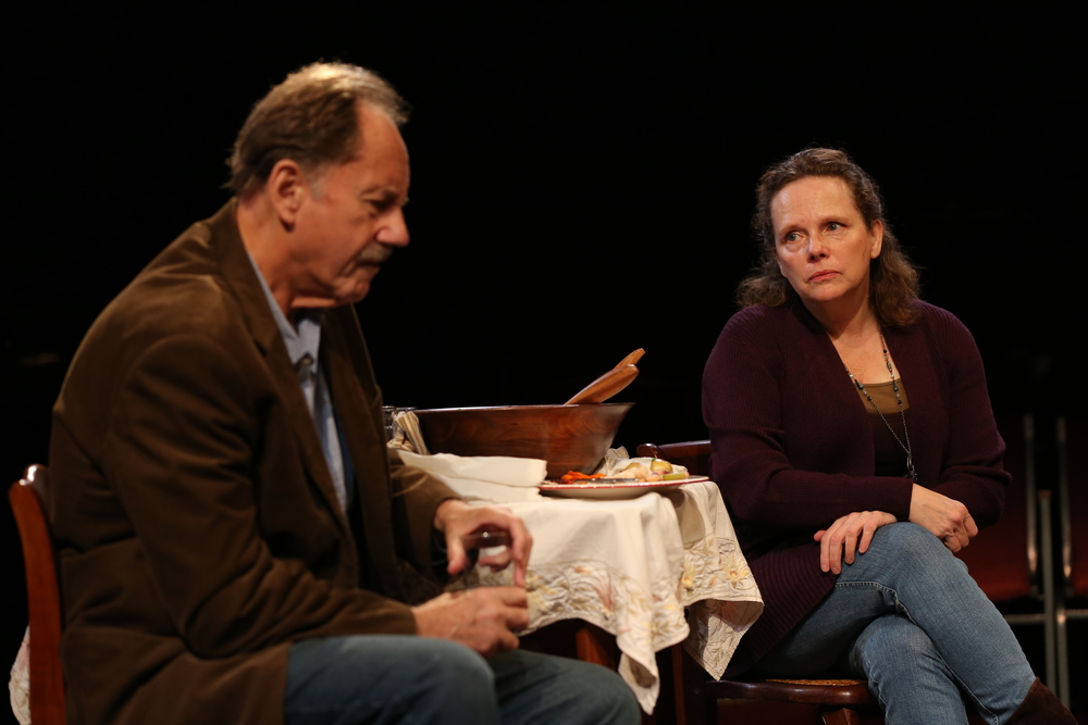 Jon DeVries and Maryann Plunkett in The Apple Family Plays