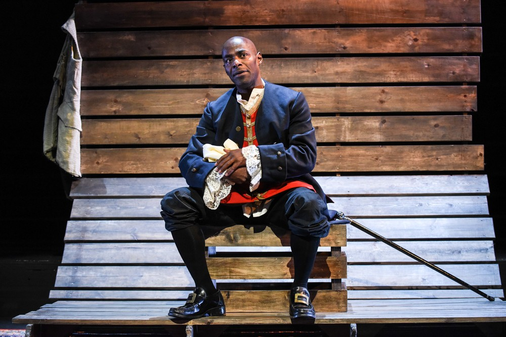 Paterson Joseph in Sancho, photograph by Robert Day