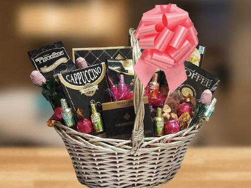 TREATS FOR HER Female Happy Birthday Gift Basket