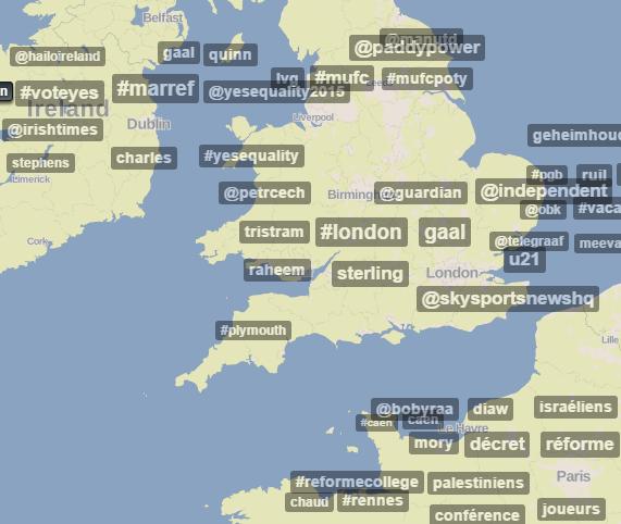 Trendsmap for Twitter