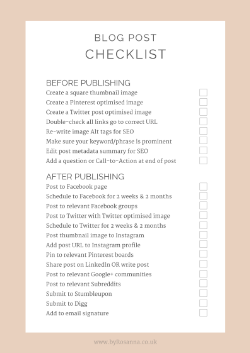 Free Blog Post Checklist