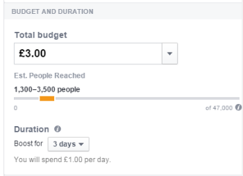 Budget for Facebook ads