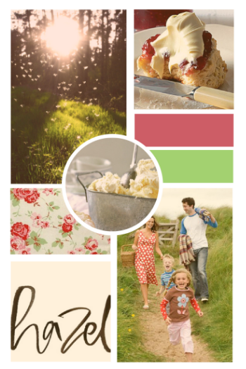 Jam & Clotted Cream brand mood board