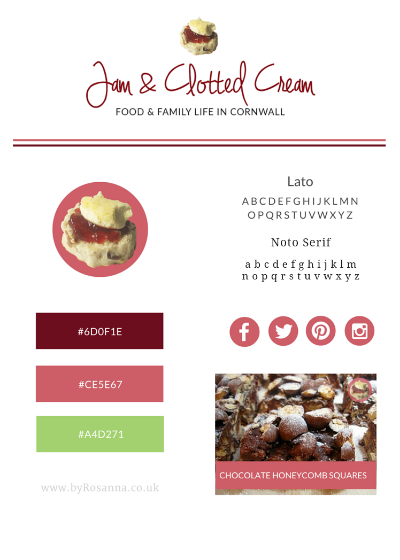 Jam & Clotted Cream brand concept