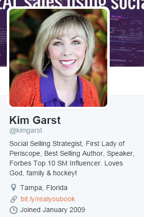 Kim Garst on Twitter