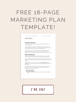 FREE Marketing Plan Template download!