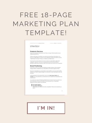 FREE Marketing Plan Template download!
