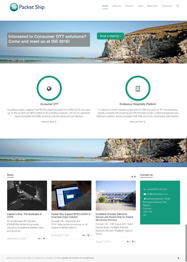 Packet Ship website re-design byRosanna