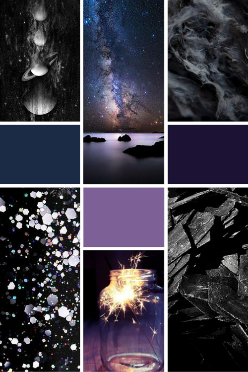 Midweek Moodboard #2: Midnight Galaxy (deep blues, purples and greys) - Inspiration for design